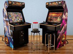 Criação de Máquina Arcade com render de Studio