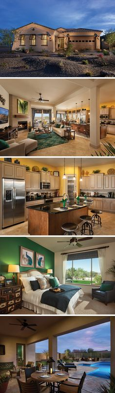 The DeSosa by David Weekley Homes located in Golf Canyon at Estrella in Goodyear, AZ. New homes from the $293s.