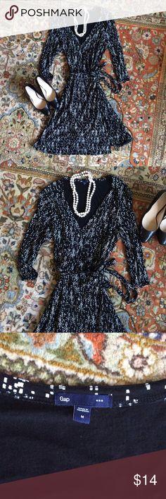 Wrap dress by GAP, sexy! ❤️ Long sleeved wrap dress, size M, by GAP GAP Dresses