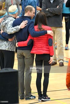 Catherine, Duchess of Cambridge and Prince William, Duke of Cambridge attend a training day for the Heads Together team for the London Marathon at Olympic Park on February 5, 2017 in London, England.