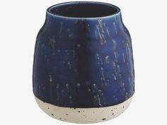 MAURY Small blue spotted clay vase