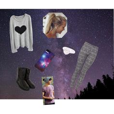 looking up into the stars on a camping trip with Louis!!!(: