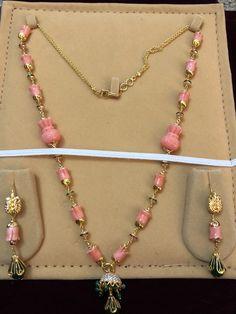 Gold Earrings Designs, Gold Jewellery Design, Bead Jewellery, Gems Jewelry, Stone Jewelry, Beaded Jewelry, Gold Jewelry Simple, Coral Jewelry, Stylish Jewelry