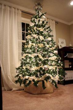 nice 45 Brilliant Ideas Christmas Tree Decoration Ideas with Ribbon