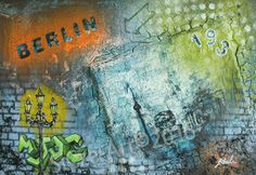 """Berlin""  Acryl auf Leinwand 60 x 40 cm"