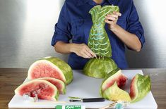 How to Make a Mermaid Tail from Watermelon
