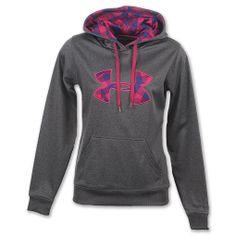 under armour sweatshirt women | Under Armour Big Logo Women's Hoodie Carbon Heather/Rosewood [66857 ...
