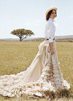 The proper attire for any savannah safari. #ruffles