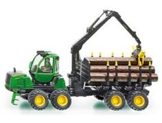 The 1/32 John Deere Forwarder from the Siku Farmer Series - Discounts on all Siku Diecast Models at Wonderland Models.    One of our favourite models in the Siku Farmer Series Tractors range is the Siku John Deere Forwarder.    Siku manufacture wonderful, amazingly accurate and detailed diecast models of all sorts of vehicles, particularly tractors and trailers including this John Deere Forwarder which can be complemented by any of the items in the Farmer Series range.