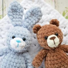 New crochet animals amigurumi teddy bears knitting patterns Ideas Mini Amigurumi, Crochet Animal Amigurumi, Crochet Baby Toys, Baby Afghan Crochet, Crochet Teddy, Knitted Animals, Crochet Bear, Diy Crochet, Baby Patterns