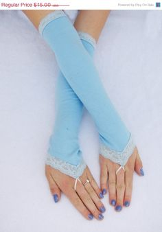 Elsa gloves Arm Warmers Frozen costume Fingerless by Steampunkwolf, $13.35