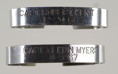 POW bracelets from the Viet Nam War.  These were available in nickel or copper.  I prayed for my POW every night.