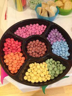 Rainbow of smarties!