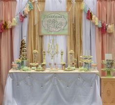 "Photo 1 of 16: Vintage Shabby Chic / Bridal/Wedding Shower ""Vintage, Shabby Chic Dessert Table, by A Charming Fête"" 