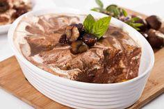 Mus z czekolady przekładany piure z kasztanów. #musczekoladowy #czekolada #deser #kasztaty #piure #chocolate #mus #smacznastrona