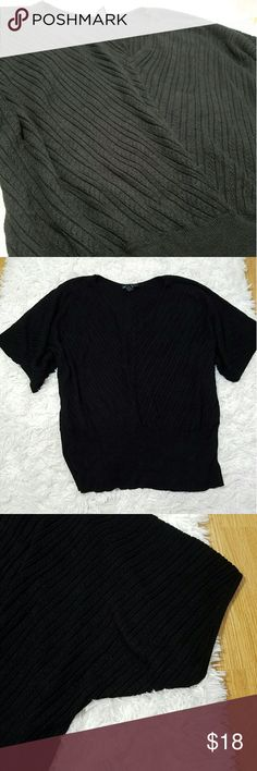 """LANE BRYANT CABLE KNIT TOP Like new, no flaws, no fading. Lane Byrant V-Neck cable knit short sleeve top. 89% Rayon, 11% Nylon. Size 22/24. Has a 7"""" waist band. Great cozy heavy top. Lane Bryant Tops Blouses"""