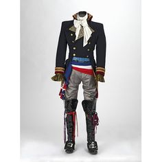 """merveilleuse-minuit: """" fashionsfromhistory: """" Adam Ant Costume 1981 """" After starting his career in a punk rock band in the late and acting in Derek Jarman's punk film Jubilee, Ant's musical and. Theatre Costumes, Cool Costumes, Costume Ideas, Larp, Ant Costume, Prince Charming Costume, Prince Costume, Adam Ant, V & A Museum"""