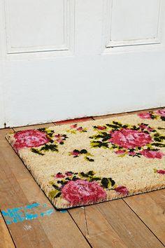 Rose Door Mat in Pinkhttp://uoeur.pe/uohomewares #Home #UrbanOutfittersEurope