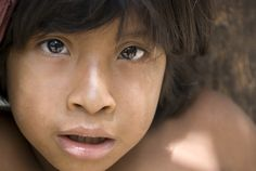 The Awa: Faces of a Threatened Tribe | Indigenous People - An Awá girl from Juriti community, where most recently contacted Awá live, Brazil.