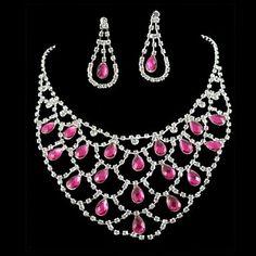 Свадебное невесты Розовый Diamantes Rhinestone кристаллическое знаменитости Вдохновленный Ювелирные наборы – RUB p. 511,45