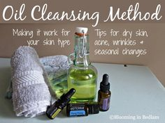 Tips on the oil cleansing method by skin type including dry skin, acne, wrinkles and seasonal changes. Plus my recipe for dry skin & hormonal acne!