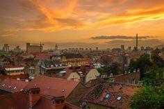 Zagreb sunset by SuperBik on 500px