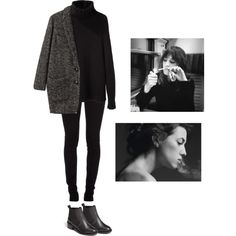A fashion look from August 2013 featuring black shirt, Étoile Isabel Marant and black boots.
