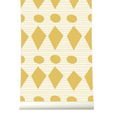 Roomblush behang wallpaper flags yellow behangpapier woonkamer slaapkamer interieur design muurdecoratie