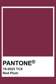 Prune Pantone Rouge  #pantone #prune #rouge