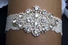 Rhinestone Garter,Lace Garter,Garter Set,Bridal Garter,Wedding Garter,Wedding Garter Set. $36.00, via Etsy.