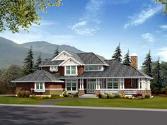 House Plan 87530 | Craftsman Plan with 2770 Sq. Ft., 4 Bedrooms, 3 Bathrooms, 3 Car Garage at family home plans