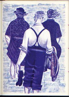 'Paddling' by Robert Tavener (lithograph)