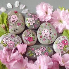 Rock Painting Patterns, Rock Painting Ideas Easy, Rock Painting Designs, Paint Designs, Pebble Painting, Dot Painting, Pebble Art, Stone Painting, Painted Rocks Craft