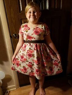 Stitch Upon a Time Stitch Upon A Time, Crop Shirt, Mommy And Me, Little Girls, Sew, Pockets, Summer Dresses, Patterns, Sleeves
