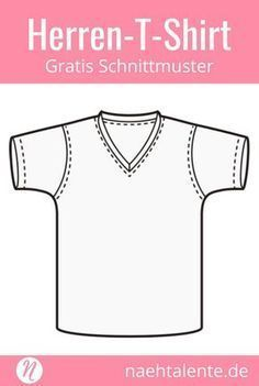 Men Clothing Free pattern for a men's V-neck T-shirt in size 44 - PDF cut to print. Freebook ✂️ Nähtalente - The magazine for hobby cutters ✂️ Free sewing pattern for men's basic Sewing Men, Love Sewing, Sewing Clothes, Diy Clothes, Easy Sewing Projects, Sewing Hacks, Sewing Tutorials, Sewing Patterns Free, Clothing Patterns