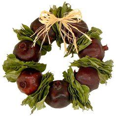 Preserved Pomegranate Wreath.