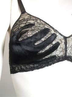 """1930s surrealist """"hands on"""" bra"""