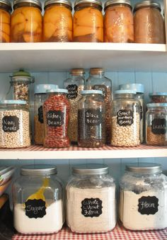pantry organization (not from original source - who's is this?)