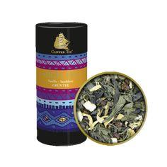 Prémium minőségű szálas zöld tea vaníliával és homoktövissel