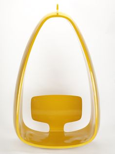 Hängesitz (1970) * Yellow Mod Chair / Retro Moulded Furniture / Swing.