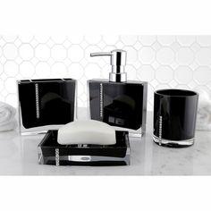 dark grey bathroom accessories. Crystal Black 4 Piece Bath Accessory Set By Kingston Brass John Lewis Dark Grey Soapstone Bathroom Accessories