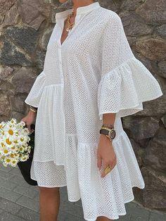 Half Sleeve Dresses, Mini Dress With Sleeves, Knee Length Dresses, Dress Skirt, Shirt Dress, Types Of Dresses, Dress Brands, Casual Dresses, Midi Dresses