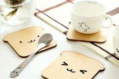 Posavasos de tostada de madera