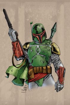 Boba Fett  Pencils by Rudy Vasquez   Inks by devgear  Colors by Jonathan Caubang