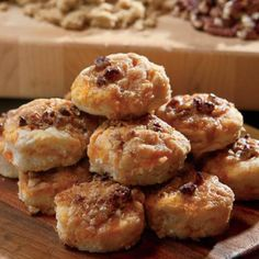 Sweet Potato Casserole Biscuits  This recipe combines classic homemade Southern biscuits with sweet potato casserole.