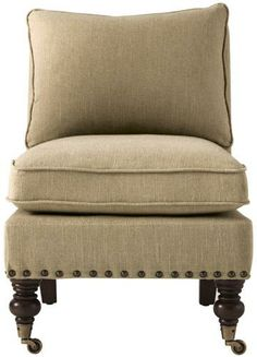 Harrison Armless Chair with Nailheads-Home Decorators