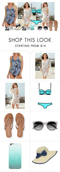 """crochet cover-up"" by tate-mafa ❤ liked on Polyvore featuring Magicsuit by Miraclesuit, Aéropostale and WithChic"