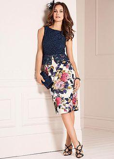 Lace Top Scuba Dress