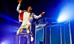 On a high note… Tinie Tempah at Manchester Apollo. Photograph: Gary Wolstenholme/Redferns via Getty