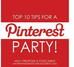 Top 10 Pinterest Party Tips #pinterest #pinterestparty #pinterestparaempresas